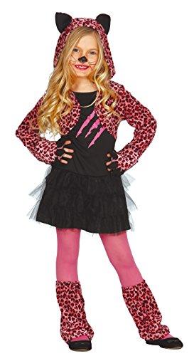Guirca pinkes Leoparden Kleid Kostüm für Mädchen Gr. 98-146, - Pink Panther Mädchen Kostüm