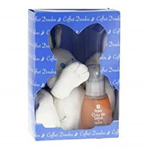 BIOLANE Coffret lapin: eau de bébé flacon 50ml + doudou lapin bleu - BIOLANE COFFRET LAPIN - eau de bébé flacon 50 ml + doudou lapin bleu - Coffret lapin:
