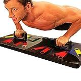 rebirthesame Attrezzatura Multifunzionale per l'allenamento a Domicilio, Scheda di Sistema per addestramento Push-up Supporto Multifunzionale Skid Facile da Applicare, tenersi in Forma