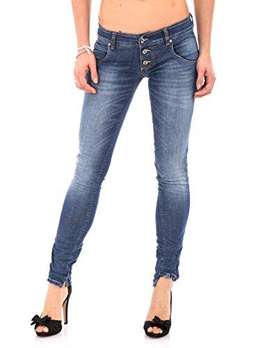 PLEASE - P83 jeans da donna stropicciato xxs denim scuro