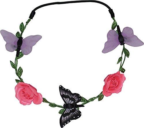 Papillon et Roses Garland Head Wrap pour les mariages, Festivals, Parties (1 Fourni)