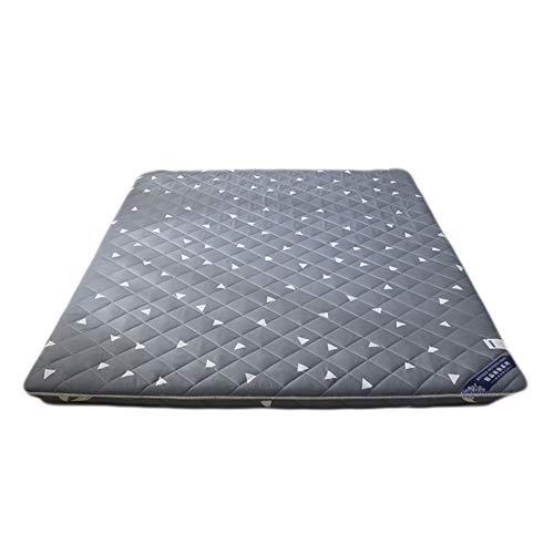 KELE Atmungsaktive Langsam Rebound Japanischen Boden futon-matratze,Faltbare Tatami matthick Bett matratzenauflage Multi-Size Stereo-matratze Harte Baumwolle polsterung füllung-A 180x200x6cm