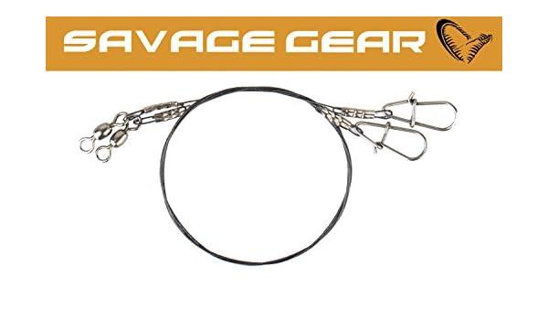 Spinnvorfach Savage Gear Titanium Spin Trace 1x7 35cm 0,40mm 15kg 2 Stahlvorf/ächer Titaniumvorfach Stahlvorfach zum Hechtangeln