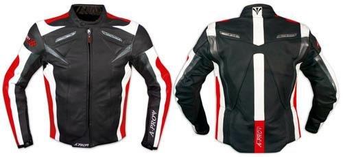 Moto-Giacca-Pelle-Motociclismo-Sport-Gilet-Estraibile-Protezioni-CE-Rosso-XXXL