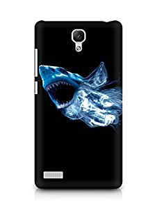 Amez designer printed 3d premium high quality back case cover for Xiaomi Redmi Note Prime (Abstract Shark)