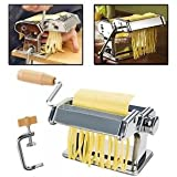 ELECTROPRIME Stainless Steel 3 In 1 Pasta Maker Roller Machine For Spaghetti Noodle