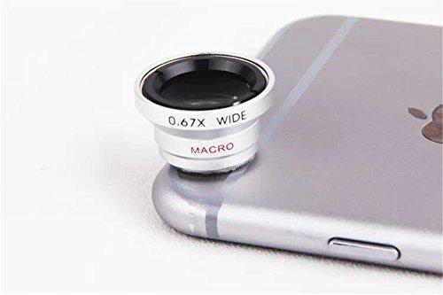 ARTLU Lentille iphone téléphone objectif de la caméra Universal 3 en 1 Kit de Lentille de caméra Objectifs Tprofessionnel fish-eye à 180° + grand angle + Micro Lens Camera Lens de téléphone pour Smartphone, iPhone 6, 6, 6 plus, 5, 5C, 5S, 4 , 4s