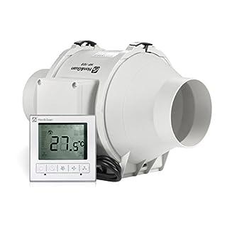 Honu0026Guan 100mm Rohrventilator Abluftventilator Timer Mit Intelligenter  Schalter Für Zimmer Bad Küche   Drei Geschwindigkeit (