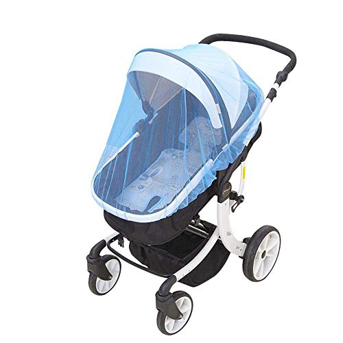 Bobopai Universal Baby Mosquito Net for Stroller and Car Seat, Bug Net for Jogger Infant Carrier Car Seats Cradles, Encrypted Mesh to Prevent Mosquitoes No Odor No Chemicals Baby Bouncer, Blue (Seat Universal Carrier Car)