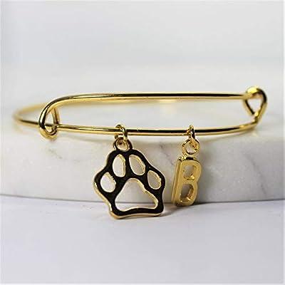 Bracelet I LOVE MY DOG personnalisé | Bracelet EMPREINTE PATTE | Bijou à initiale | Bijou personnalisé | Bijou pierre de naissance | Cadeau femme personnalisé