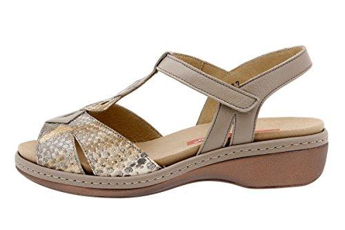 Komfort Damenlederschuh PieSanto 1821 Sandale mit herausnehmbarem Fußbett bequem breit Cuero