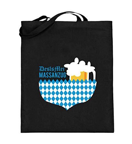 Des Is Mei Massanzug Anzug Oktoberfest München Bayern Festzelt Outfit Maßkrug Mass Maß - Jutebeutel (mit langen Henkeln)