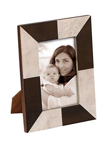 souvnear-handmade-picture-photo-frame-4x6-resin-mdf-alternate-black-white-geometric-trapezoid-patter
