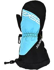 ESKA Niños Boaz Esquí Invierno Manoplas, otoño/invierno, infantil, color negro y azul, tamaño S