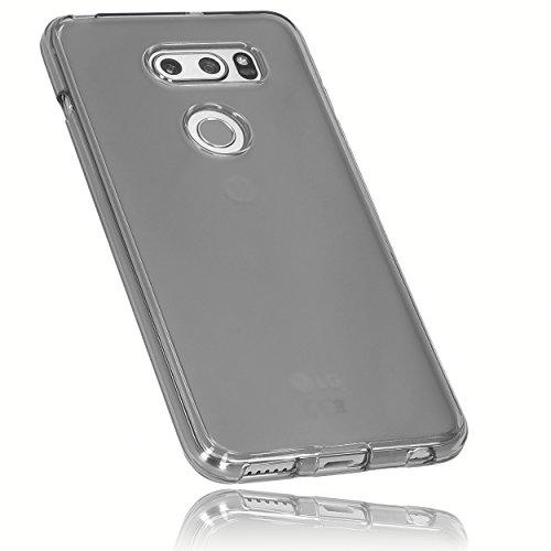 mumbi Schutzhülle für LG V30 / V30S ThinQ Hülle transparent schwarz