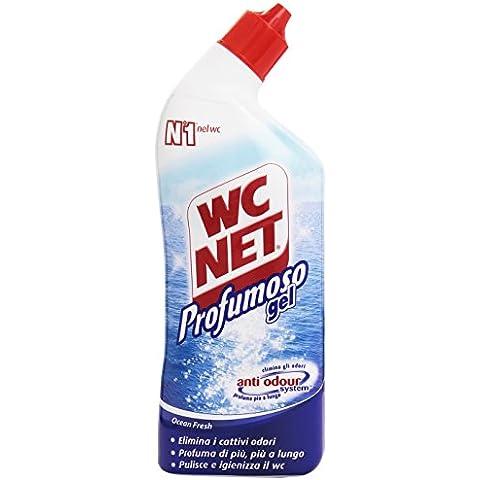 WC Net–Limpiador para inodoro, profumoso Gel, elimina los olores, 700ml, Perfumes Varios