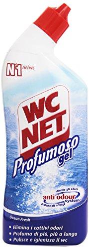 Wc Net - Detergente per Wc, Profumoso Gel,Elimina gli Odori, Profumi Assortiti - 6 pezzi da 700 ml [4200 ml]