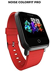 Noise ColorFit Pro Fitness Watch/Smart Watch/Activity Tracker/Fitness Band with Colored Display Waterproof, Heart Rate Sensor, Call & Notification Alert with Camera and Music Control Features (Red)