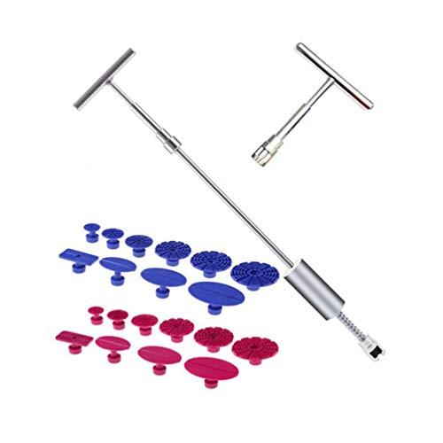 Chouli kit di riparazione per auto professionale rimozione senza ammaccature senza vernice strumento di riparazione set di estrattori blu e rosa rossa