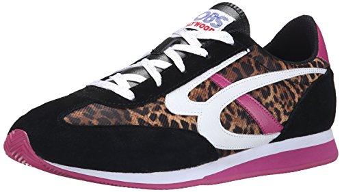 Bobs De Skechers Sunset Fashion Sneaker Black/White/Pink