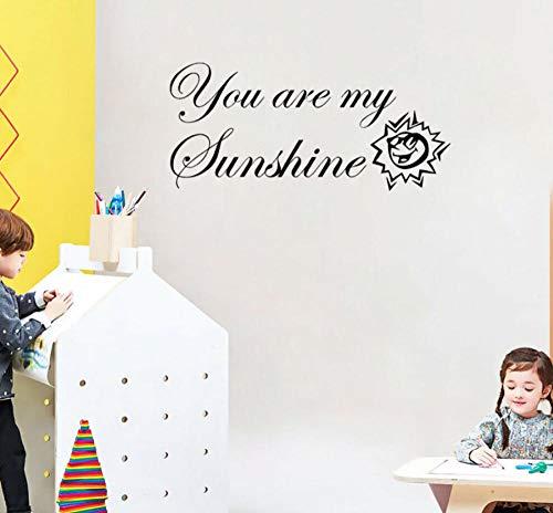 Wandaufkleber 76CMx34.6CM Sie sind mein Sonnenschein-Kunst-Ausgangsdekor für Kidsroom PVC-Wand-Aufkleber (Sind Sie Mein Sonnenschein-party)