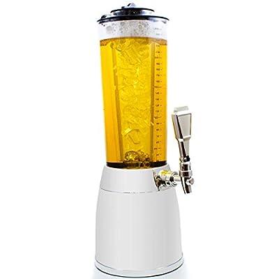 Girafe à bière 4 l - pompe à bière 4 litres de luxe en chrome
