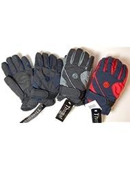 Niños guantes de esquí con forro térmico. 2tamaños disponibles. 3colores. (negro/azul marino, 9-12años)