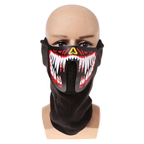 Leuchtende Schädel Maske Maske Masque Horreur Halloween Dekoration Bastelbedarf 04 ()