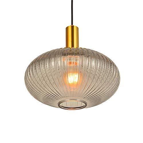QJSY Kreative Runde Pendelleuchte Einfache Vintage Kronleuchter Glas Lampenschirm Höhenverstellbar Bar Restaurants Kunst Dekoration Decke Pendelleuchte -
