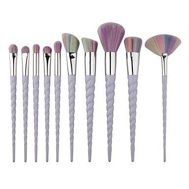 RY@ 10 Pinceau à Blush Pinceau Fard à Paupières Pinceau Correcteur Pinceau Poudre Pinceau à Contour ensembles de brosses Poil Synthétique