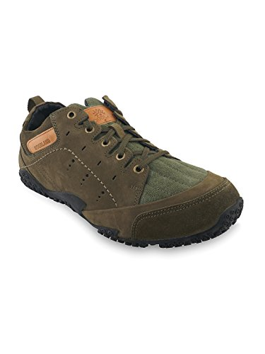 Woodland Men's Green Leather outdoor shoes  available at amazon for Rs.2556