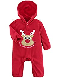 Freebily Pelele de Navidad para Bebé Niño Niña Unisex Mono Infantil Conjuno  de Fiesta Bautizo para 3a5c1e941958