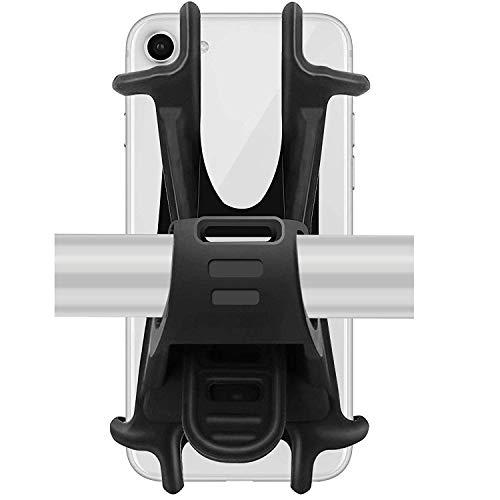 OUNDEAL Porta Cellulare Bici, Supporto da Bici per Smartphone, Durevole Silicone Antiscivolo per iPhone X 6 7 8 Plus, Samsung Galaxy S9 S8 Plus 4.5-6.0 Po