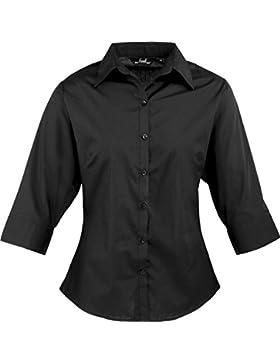 Premier con cierre de solapa y ¾ popelín blusa de estilo para mujer traje de neopreno para mujer sábana bajera...