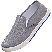 f9662cda37e6 Hibote Homme Femme Casual Chaussures Respirant Sneaker Mocassin Unisexe  Chaussures de Travail Chaussures Plates Chaussures Classique