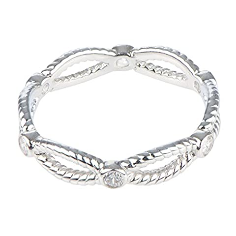Twisted CZ Stackable Eternity Band