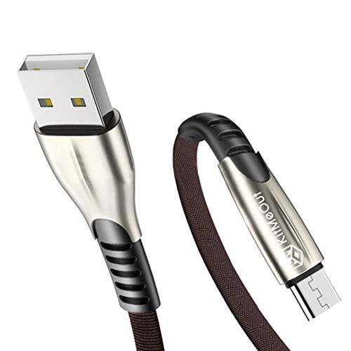 Für Nokia 3310 4G / Nokia 3310 3G / Nokia 3310 (2017) / Nokia 210 [2M] [3-Stück] Datenkabel Micro USB Kabel [USB 3.0] Schnelles Aufladen & Synchronisation [2 Amp] Nylon Ladekabel - Schwarz