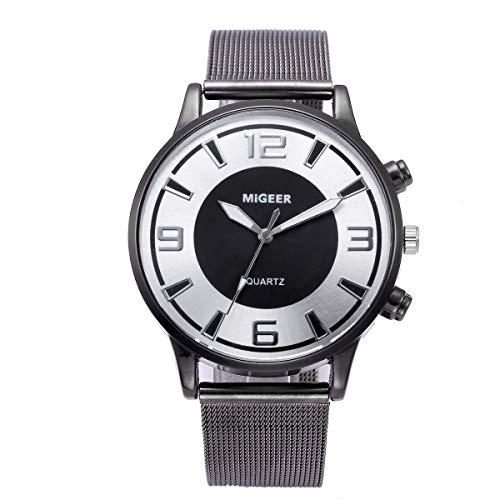 Celucke Armbanduhr Herren Ultra Dünne Quarzuhr, Männer Elegant Klassisch Uhr Analog Minimalistische Herrenuhr Business Uhren mit Mesh Armband