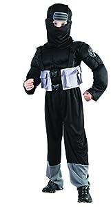 Reír Y Confeti - Fibnin021 - Disfraces Para Niños - Little Ninja muscular Costume Deluxe - Boy - Talla M