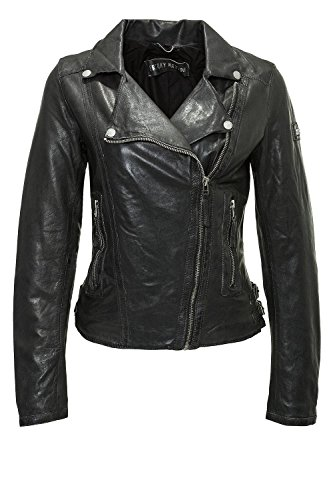 Freaky Nation Damen Lederjacke (S, Black)