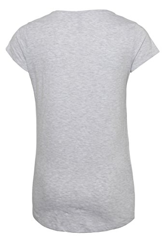 Sublevel Damen Print-Shirt mit Origami Katze | Bequemes Shirt mit Aufdruck Aus Hochwertigem Jersey-Material Grey
