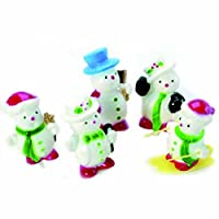 Anniversary House : Snowmen Cake Toppers (Pack of 5)
