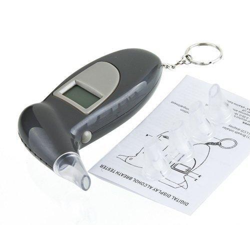 ALCOHOLIMETRO DIGITAL MAXIMA PRECISION CON BOQUILLA  ALARMA Y PANTALLA LCD