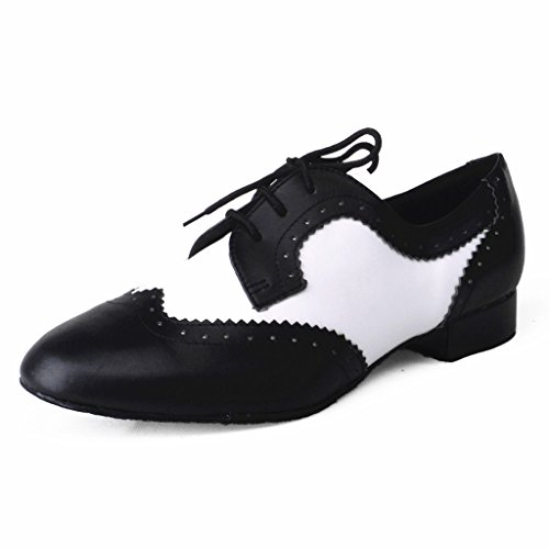 Jig Foo Herren Standard Tanzschuhe, Mehrfarbig - schwarz/weiß - Größe: 47 EU