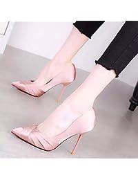 2c1d91e0fc6a5 Yukun Talons hauts Chaussures de Mariage à Talons Fines avec Printemps Mode  été tempérament Chaussures Pointues Petite Fille fraîche…