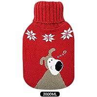 Wärmflasche mit gestrickten Bezügen, abnehmbar, groß, 2 l Fassungsvermögen preisvergleich bei billige-tabletten.eu