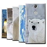 eSwish Hülle/Case für Sony Xperia XA2 Plus/Pack 6pcs / Arktis Tiere Kollektion