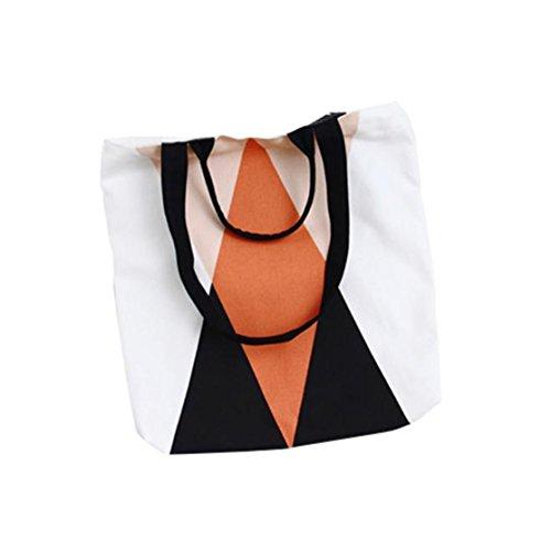 1 STÜCK Neue Damen Leinwand Freizeit Schultasche Rucksack Bag Bags Frauen Multifunktions Handtasche Loveso Mode Niedlichen Druck Mädchen Leinwand Taschen Umhängetasche Läs (D, 36cm*40cm) (Tote Leder Kleine Patent)