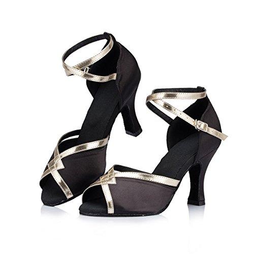 Miyoopark ,  Damen Tanzschuhe Black-8cm Heel