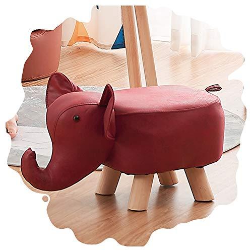 ZEMIN Pie Puff Reposapiés Escabel Otomano Taburete Elefante Niño Animal Jardín De Infancia Bebé Asiento Cambiar El Banco De Zapatos, Los 45x25x30cm